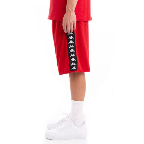 Kappa 222 Banda Basaf Red Black Shorts