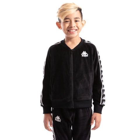 Kappa Kids 222 Banda Benetti Black White Jacket