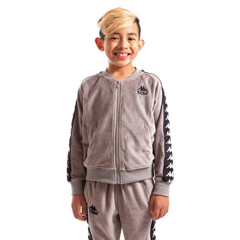 Kappa Kids Authentic 222 Banda Benetti Jacket GreyMist Black White