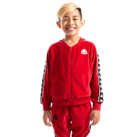Kappa Kids Authentic 222 Banda Benetti Jacket Red Dk Black White