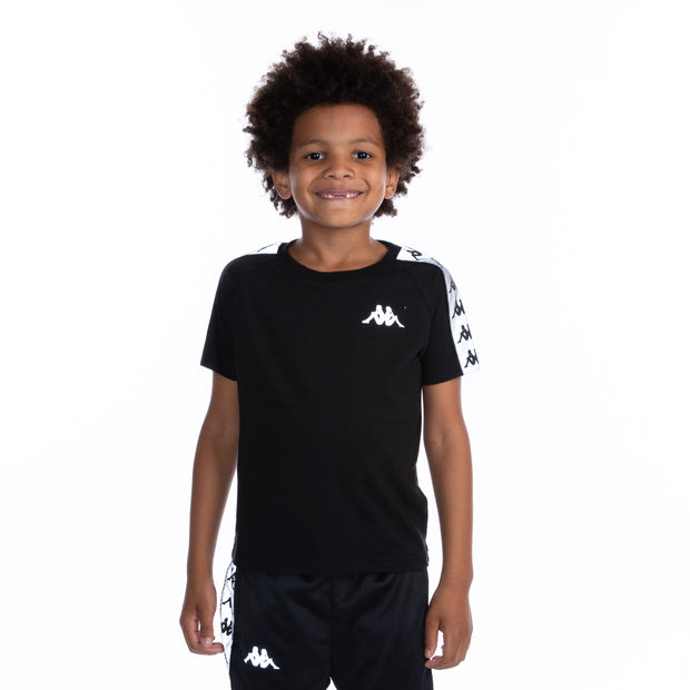 Kids 222 Banda Michael Reflective T-Shirt - Black Grey Reflective