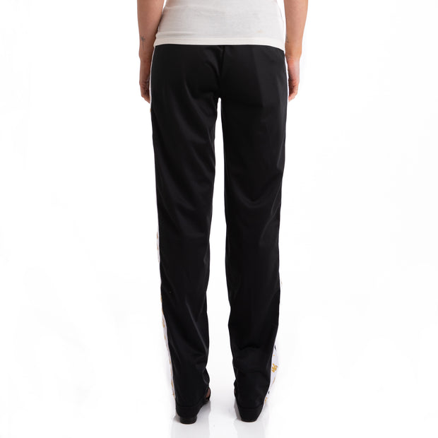 Kappa 222 Banda Wastoria Black White Gold Trackpants