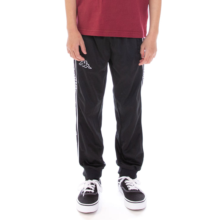 Kids Logo Tape Alic Trackpants Black Black White