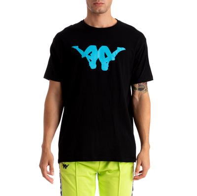 Kappa Authentic Bekke Black White Turquoise T-Shirt