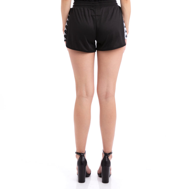 Kappa 222 Banda Anguy Alternating Banda Black White Shorts