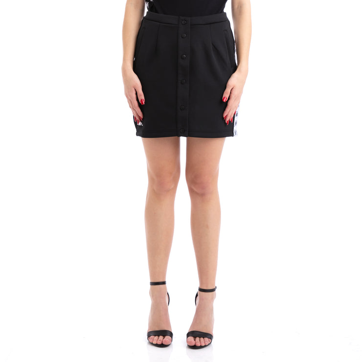 Kappa 222 Banda Baquima Black White Skirt
