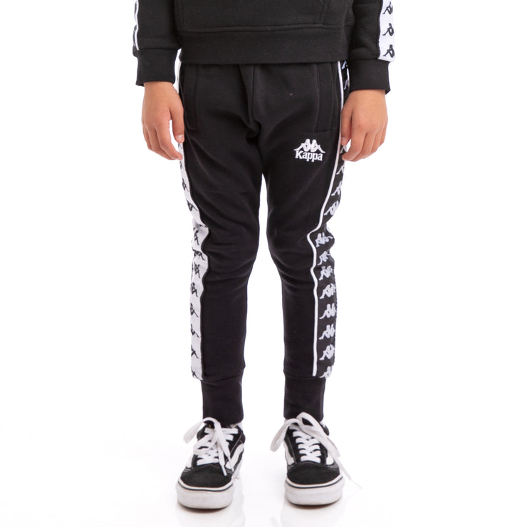 Kappa Kids 222 Banda Alan Alternating Banda Black White Sweatpants