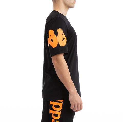Kappa Kalcio Boloxi Black Orange Mesh T-Shirt
