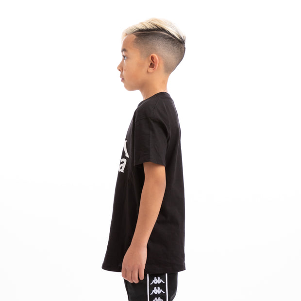 Kappa Kids Authentic Estessi Slim Black White T-Shirt