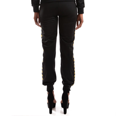 Kappa 222 Banda Wrastoria Black Gold Trackpants