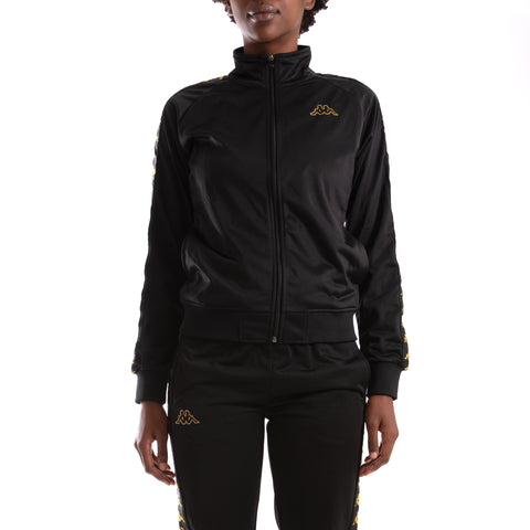 Kappa 222 Banda Wanniston Black Gold Track Jacket