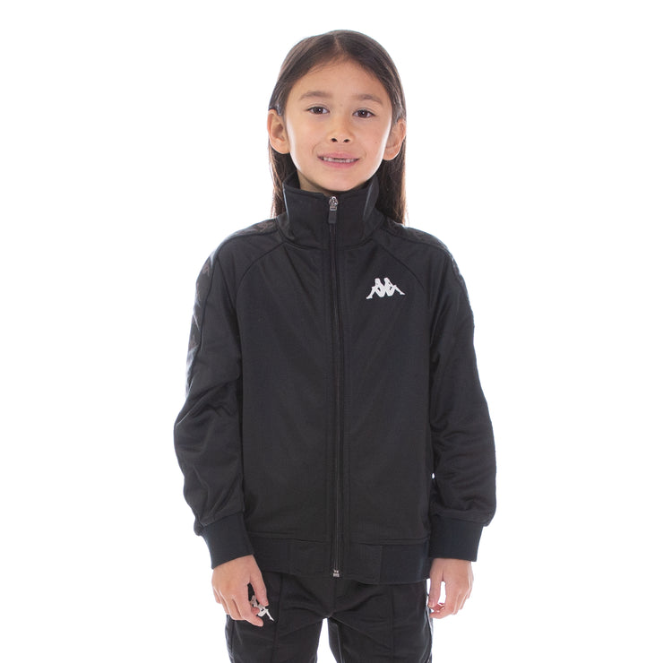 Kids Logo Tape Artem Track Jacket Black Black White