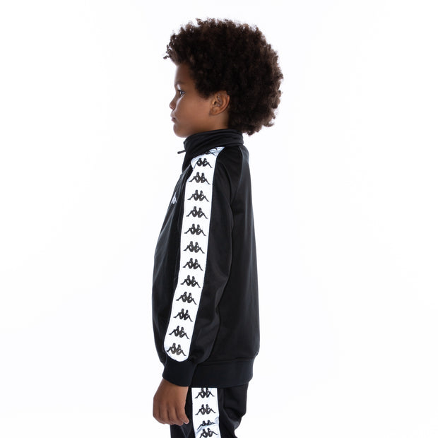 Kids 222 Banda Joseph Reflective Track Jacket Black Grey Reflective