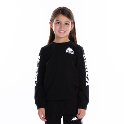 Kids Authentic Defer Reflective Long Sleeve T-Shirt - Black Grey Reflective