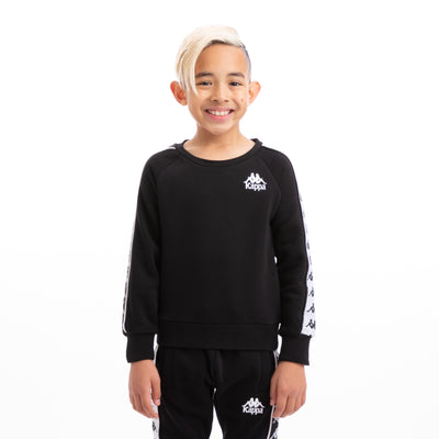 Kappa Kids 222 Banda Arbir Alternating Banda Black White Sweatshirt