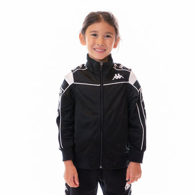 Kids 222 Banda Merez Slim Track Jacket Black White Black