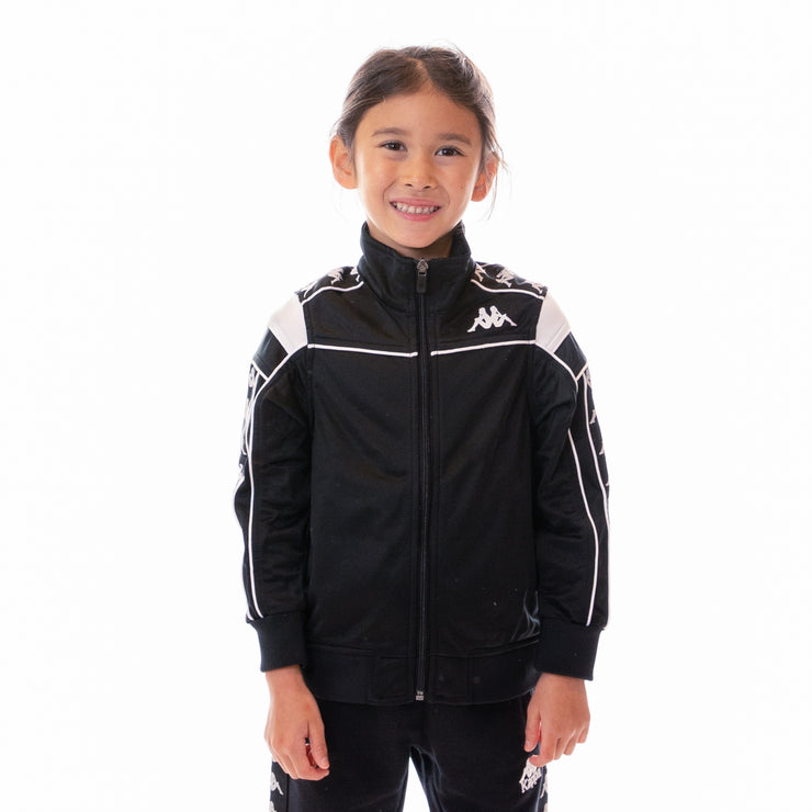 Kids 222 Banda Merez Slim Track Jacket - Black White Black