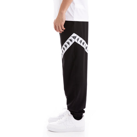222 Banda Balmar Black White Trackpants