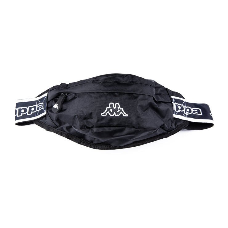Logo Tape Bais Pouch Bag Black Black White