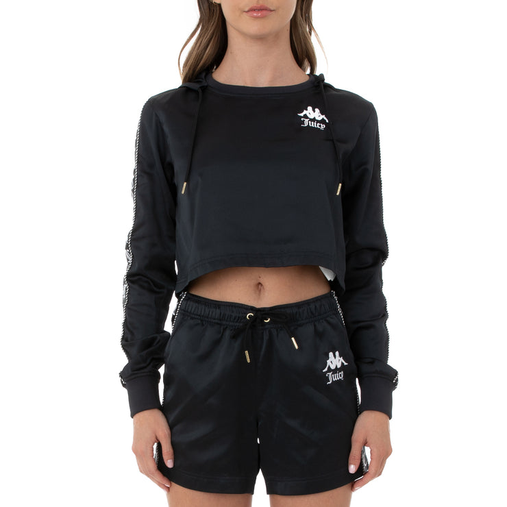 Authentic Juicy Couture Eres Crop Track Jacket - Black Smoke