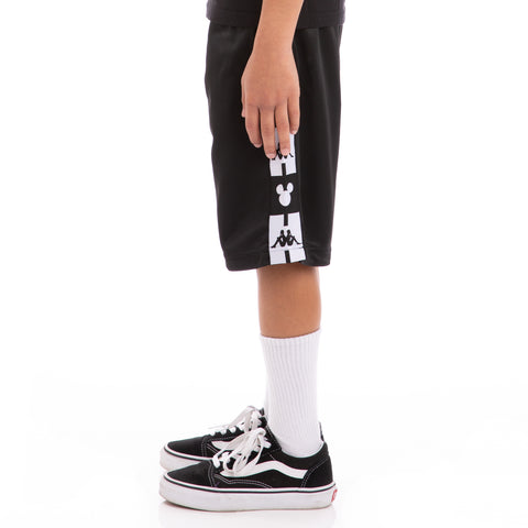 Kappa Kids Authentic Arwell Disney Black White Shorts