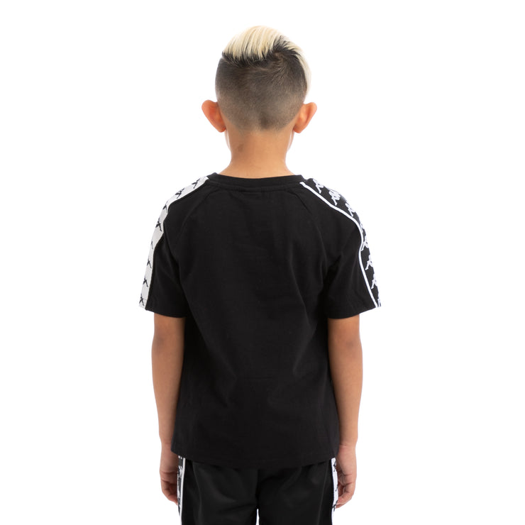 Kids 222 Banda Coen Alternating Banda Black White T-Shirt