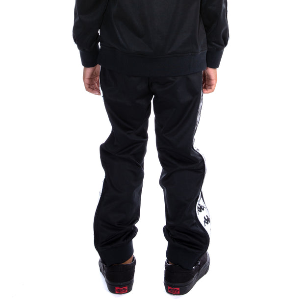 Kids 222 Banda Dodo Reflective Trackpants - Black Grey Reflective