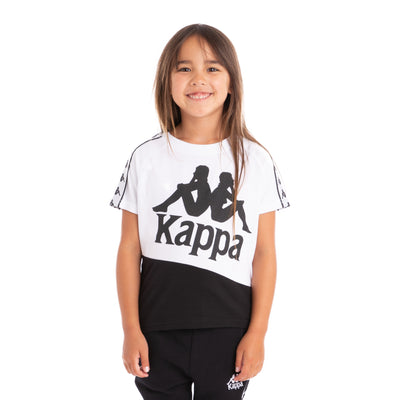 Kids 222 Banda Baldwin T-Shirt - White Black White