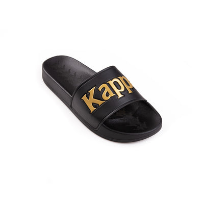 Kappa 222 Banda Adam 9 Black Yellow Gold Slides