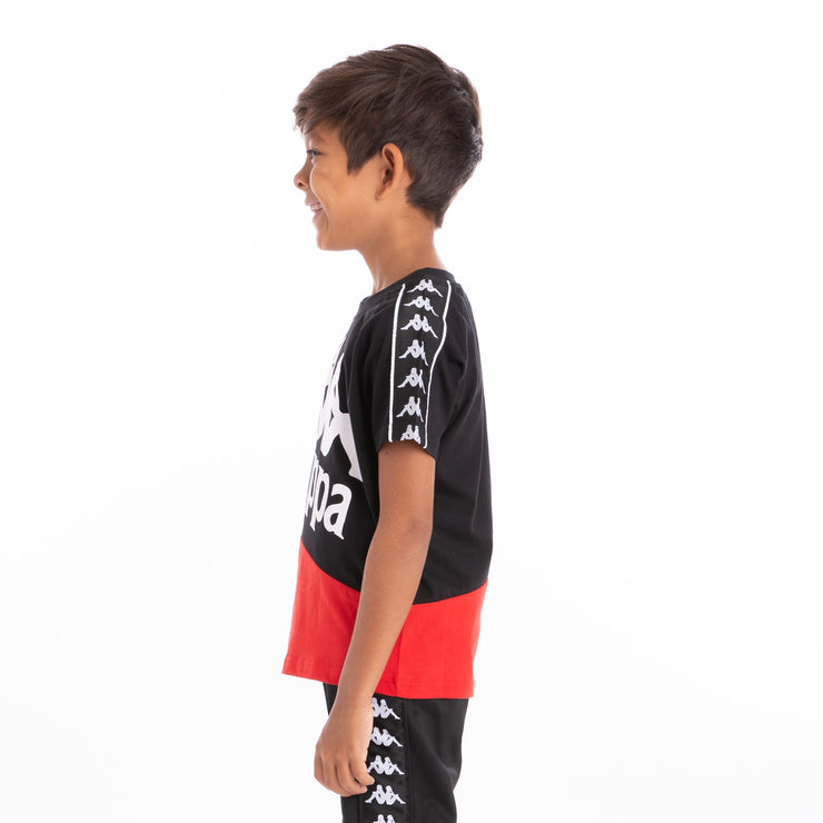 Kids 222 Banda Baldwin T-Shirt - Black Red Black