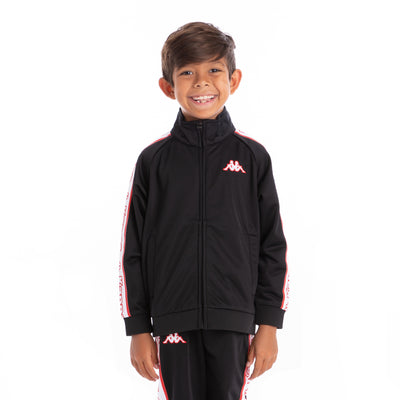 Kids Logo Tape Artem Track Jacket Black