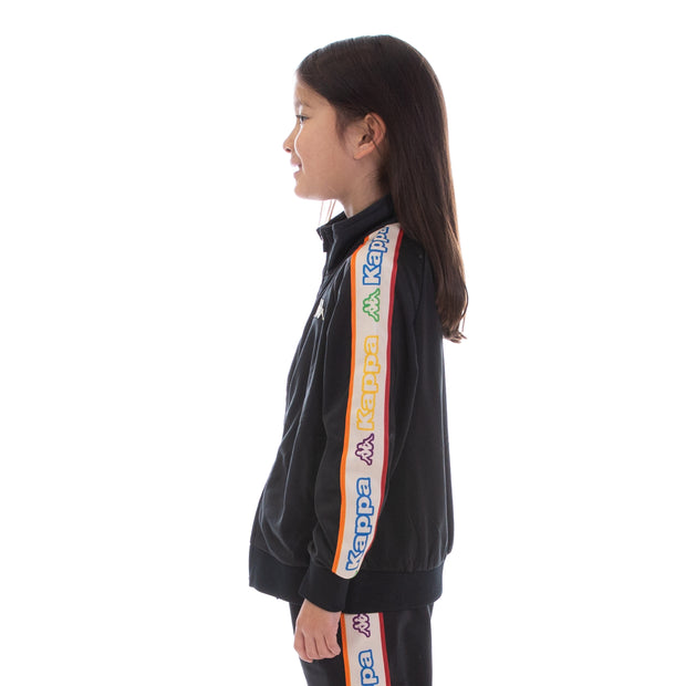 Kids Logo Tape Artem Track Jacket - Black White Rock