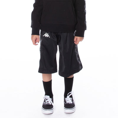 Kids 222 Banda Treadwellz Shorts - Black White Antique