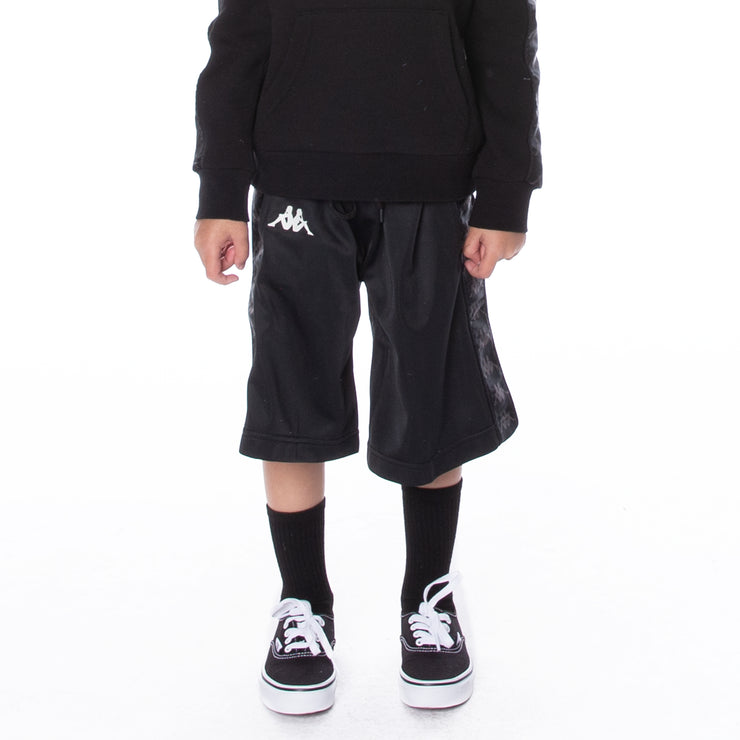 Kids 222 Banda Treadwellz Shorts Black White Antique