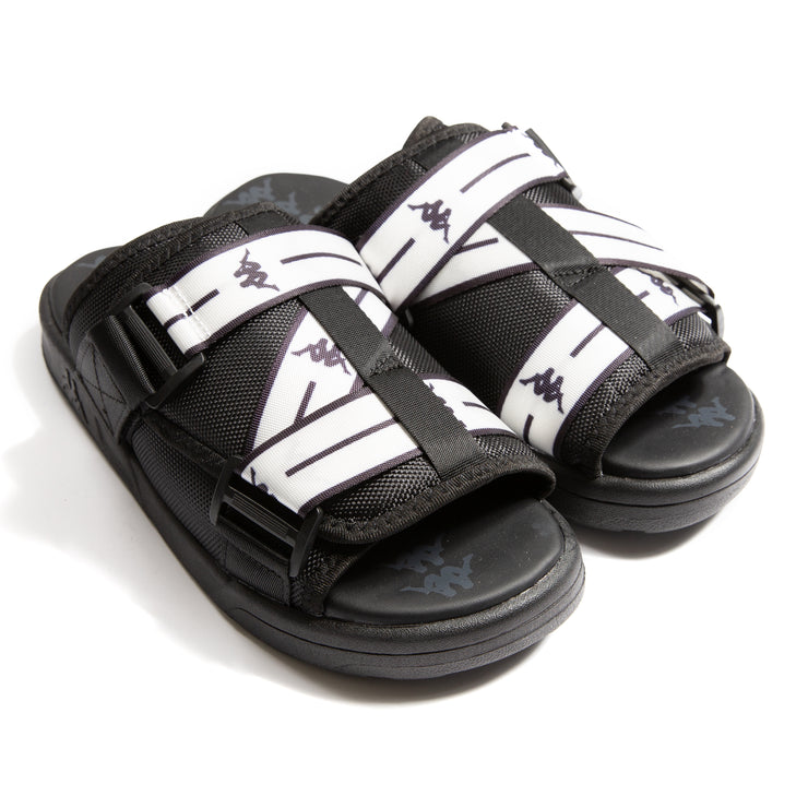 Authentic Jpn Mitel Black White Sandals
