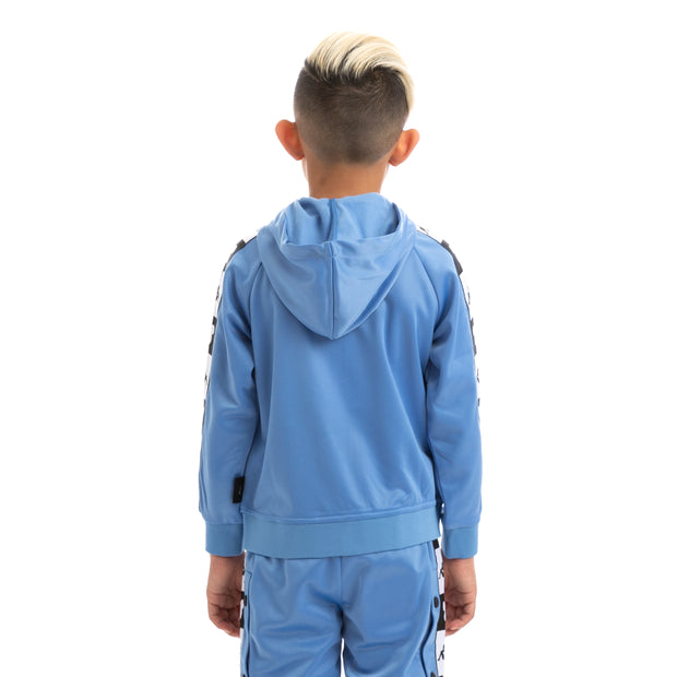 Kids Authentic Ander Disney Blue Pacific Black Hooded Track Jacket