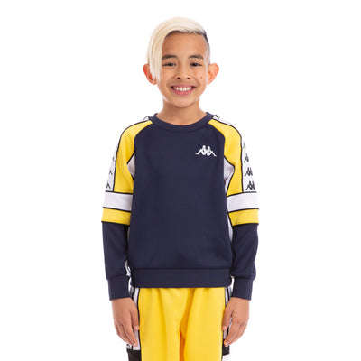 Kappa Kids 222 Banda Arlton BlueMar Yellow White Sweatshirt
