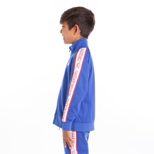 Kids Logo Tape Artem Track Jacket Blue Royal