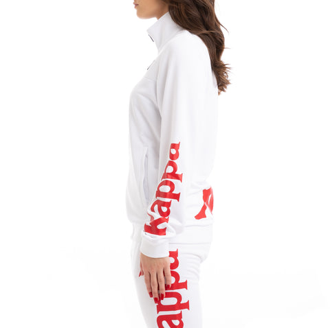 Kappa Kalcio Bouvilly White Red Track Jacket