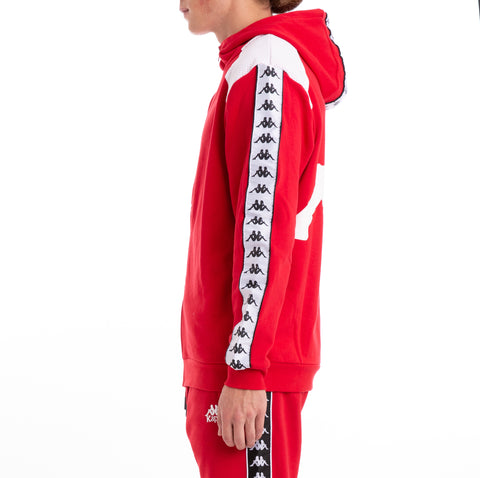 Kappa Authentic Bray Red White Hoodie