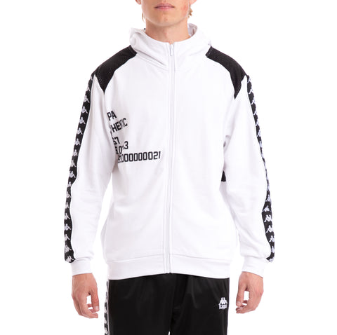 Kappa Authentic Bray White Black Hoodie