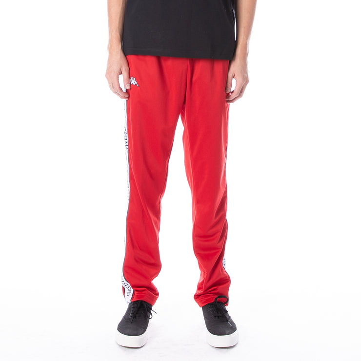 Logo Tape Aplec Trackpants - Red White