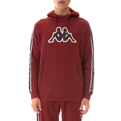 Logo Tape Apet Hoodie - Red Bordeaux Black White