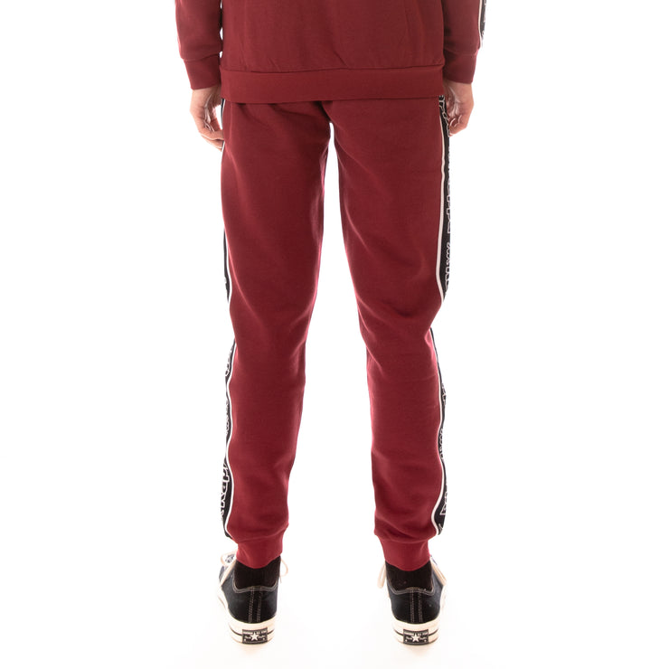 Logo Tape Anira Sweatpants - Red Bordeaux Black White