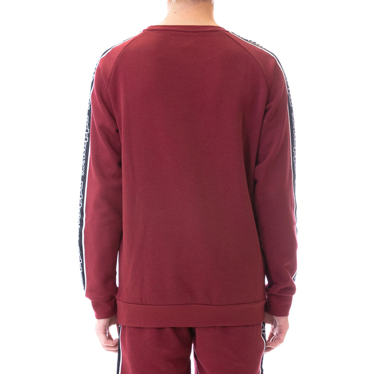 Logo Tape Ateri Sweatshirt - Red Bordeaux Black White
