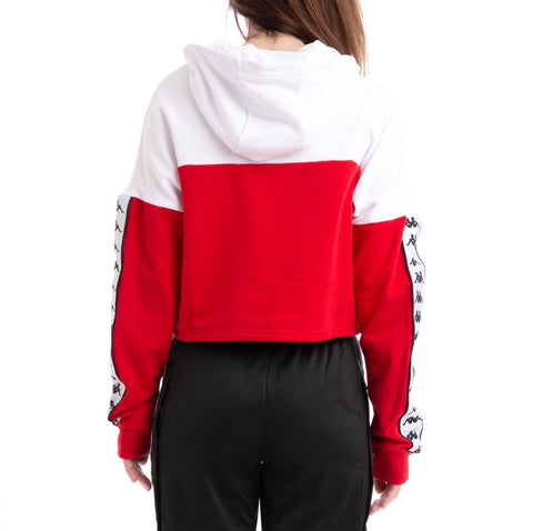 Kappa Authentic Byta White Red Black Hoodie