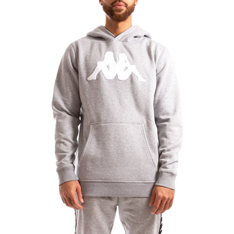 Kappa Authentic Bzalent Grey Md Mel Hoodie