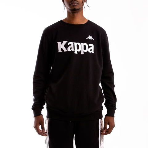 Kappa Authentic Bzali Black Grey Silver Sweatshirt