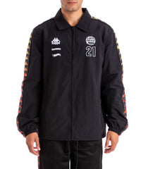 Kappa x Gumball 3000 Banda Grand Drivers Jacket - XS / BLACK RED ORANGE YELLOW / 31112KW-A01