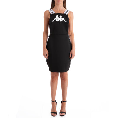 KAPPA 222 Banda Bondera Black White Dress